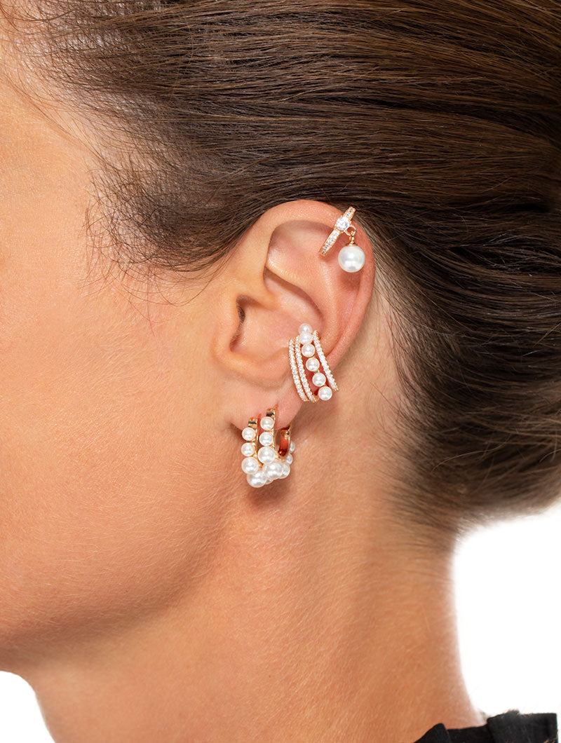 GRACE PEARL EARRINGS IN ROSE GOLD