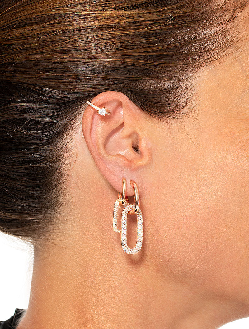 KIM EARRING IN ROSE GOLD WITH ZIRCONS
