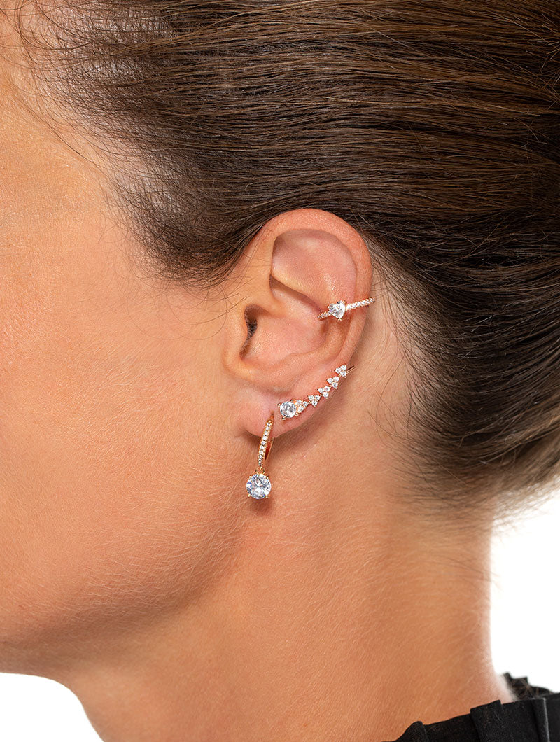 MARILYN EARRINGS IN ROSE GOLD WITH ZIRCONS