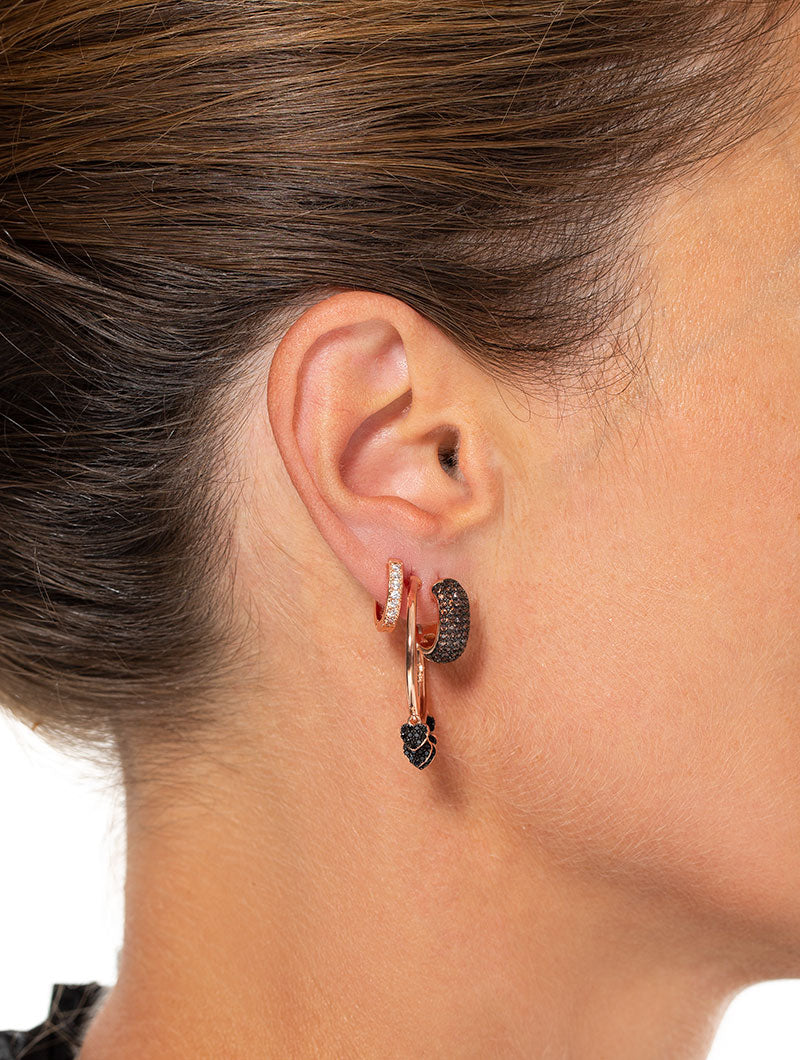 LILY EARRINGS IN ROSE GOLD WITH COFFEE BROWN ZIRCONS