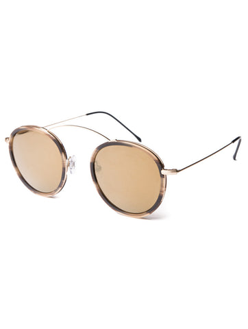 SUNGLASSES | METRO-2 GOLD / CAFFE LATTE / BRONZE MIRROR | NOHOW STYLE