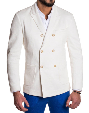MEN'S BLAZER | DOUBLE BREASTED CREAM | NOHOW STREET COUTURE