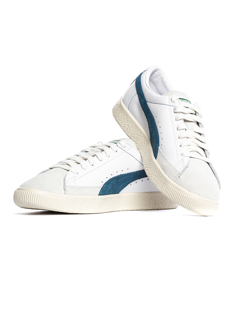 BASKET 90680 L PUMA SNEAKERS IN WHITE AND BLUE