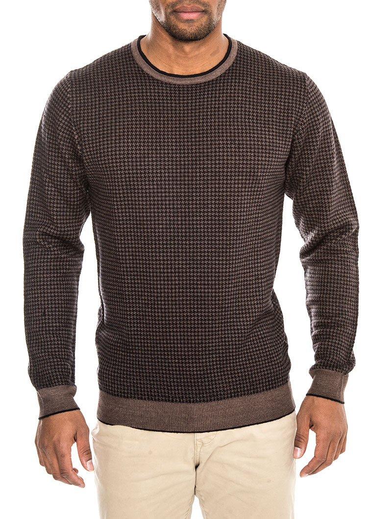 BELFAST HOUNDSTOOTH SWEATER