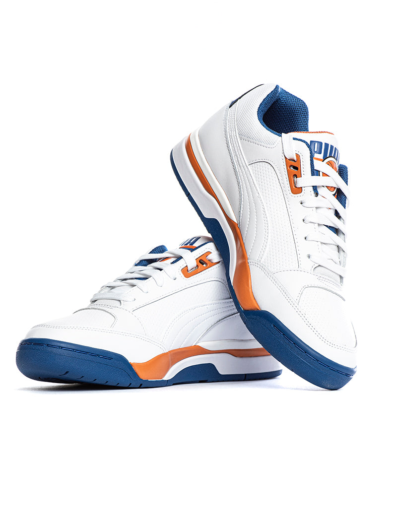 PALACE GUARD SNEAKERS IN WHITE, BLUE AND ORANGE