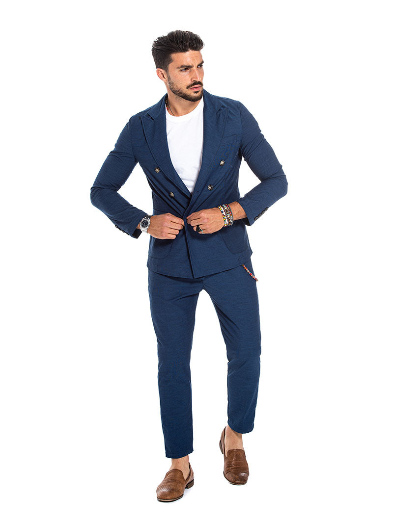 BALE DOUBLE BREASTED BLAZER IN BLUE