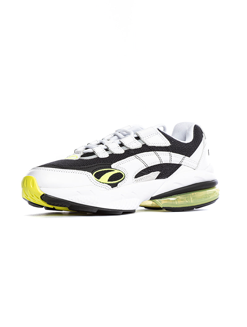CELL VENOM HYPE PUMA SNEAKERS IN WHITE, BLACK AND YELLOW