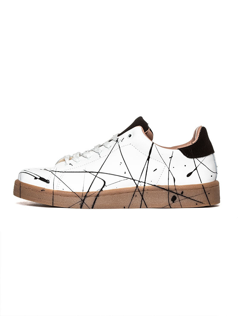 SPLASH SNEAKERS IN WHITE AND BEIGE GUM