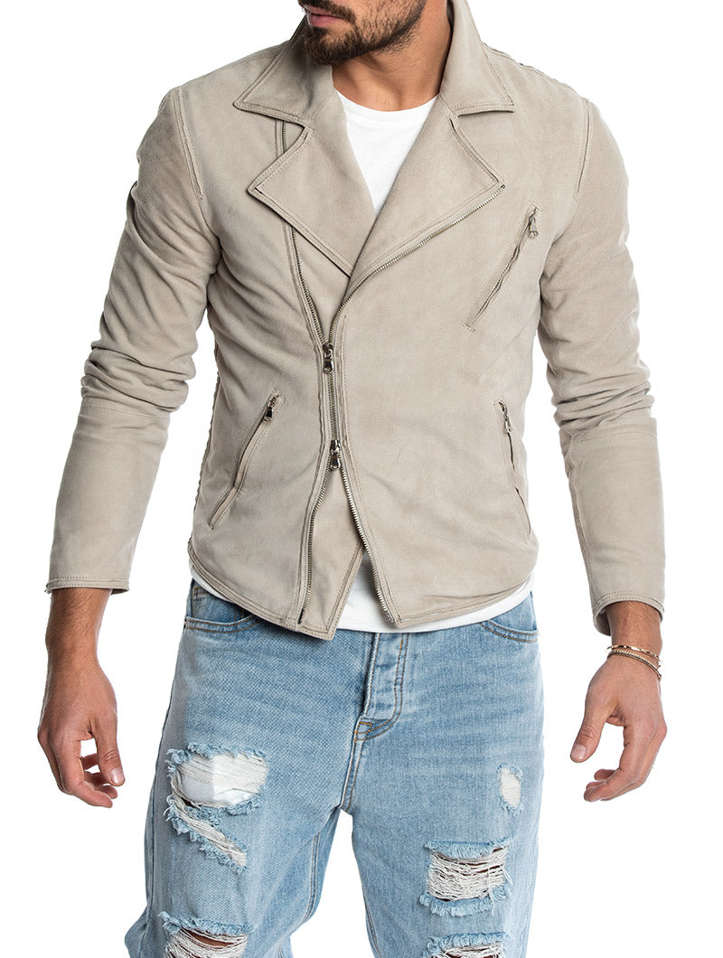 KEOPE SUEDE JACKET IN ICE