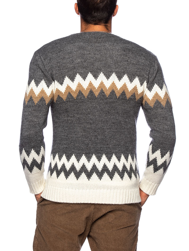 NILS CREWNECK SWEATER IN GREY
