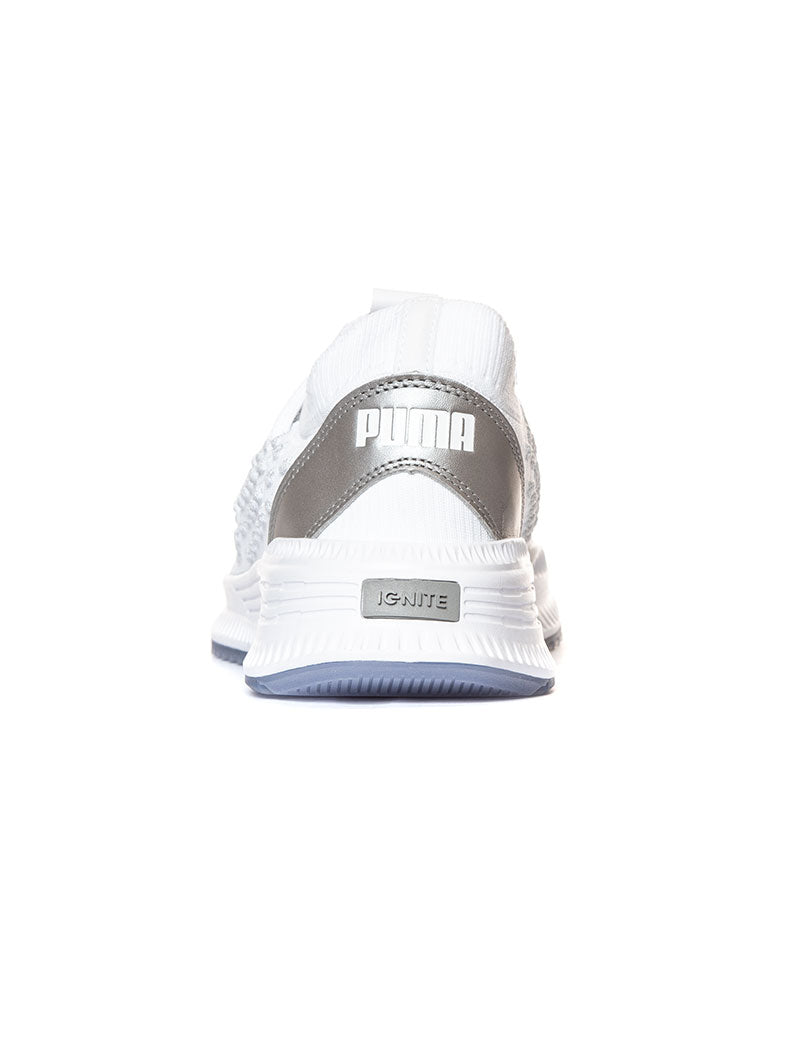 AVID FUSEFIT PUMA IN WHITE AND SILVER