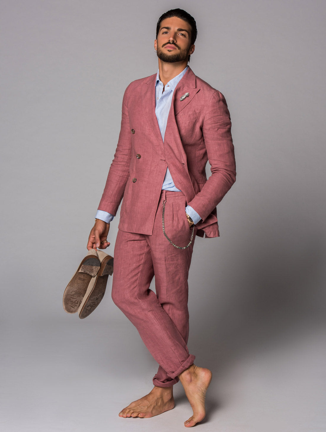 LINUM SUIT IN APRICOT