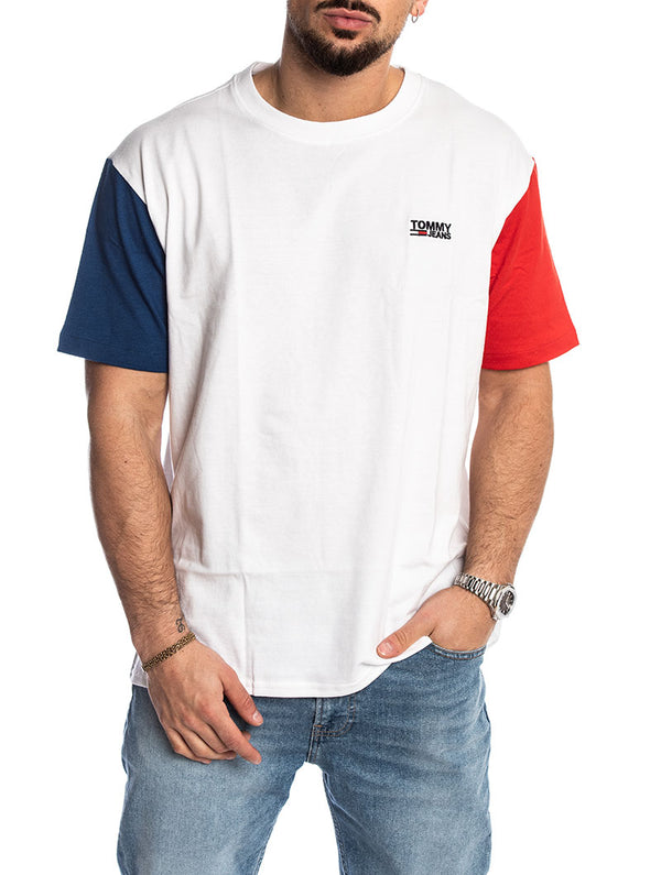 91f2ff02 TJM COLORBLOCK TEE IN CLASSIC WHITE. Tommy hilfiger