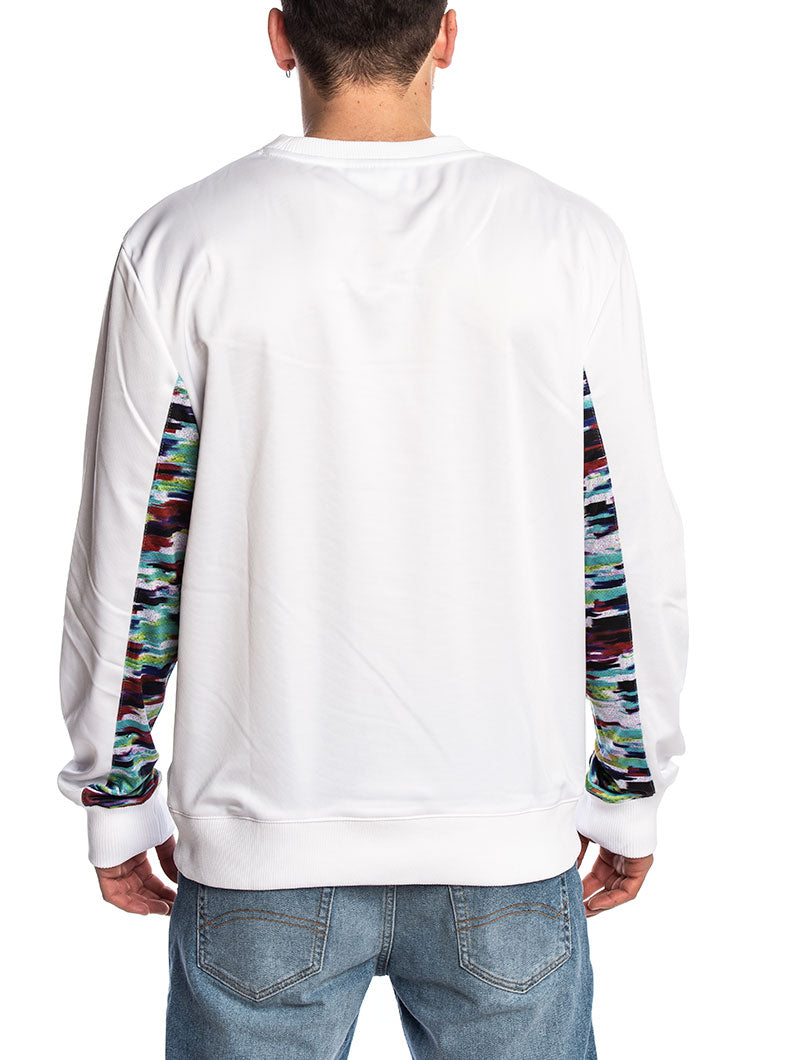 MEN WALTER OIL SLICK GRAPHIC STRIPE IN WHITE