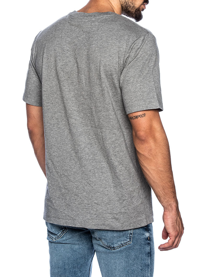 CK INST FLAG PATCHWORK T-SHIRT IN GREY AND BLACK