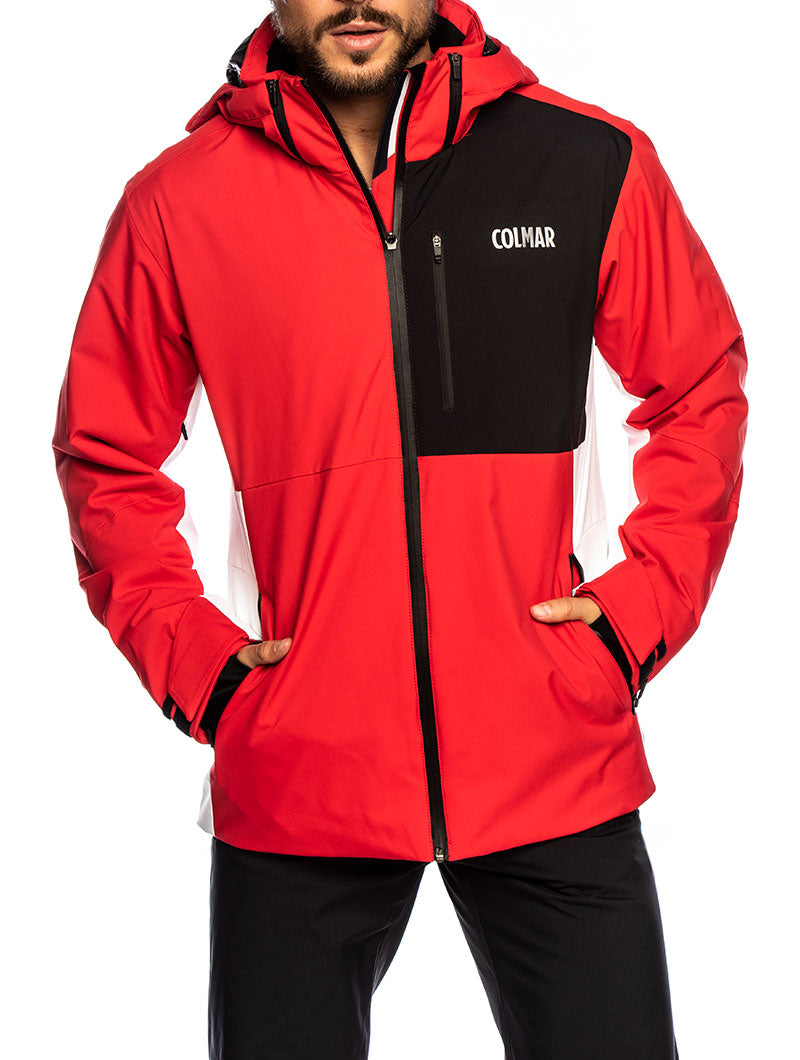 COLMAR JACKET IN RED AND BLACK