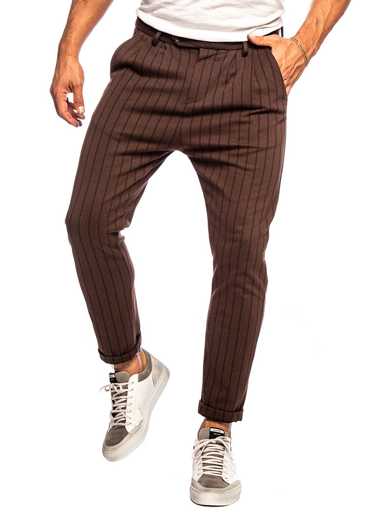 ANUBIS CASUAL PANTS IN BROWN