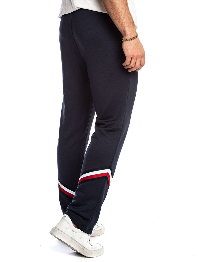 TOMMY SPORT TRACK PANT SNAPS 129 IN SPORT NAVY