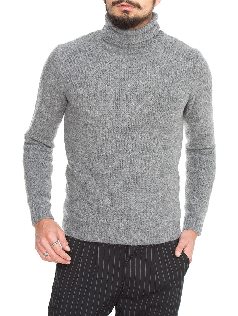 SIMON ROLL-NECK SWEATER IN GREY