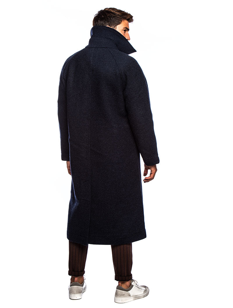 SIGFRED COAT IN BLUE NAVY