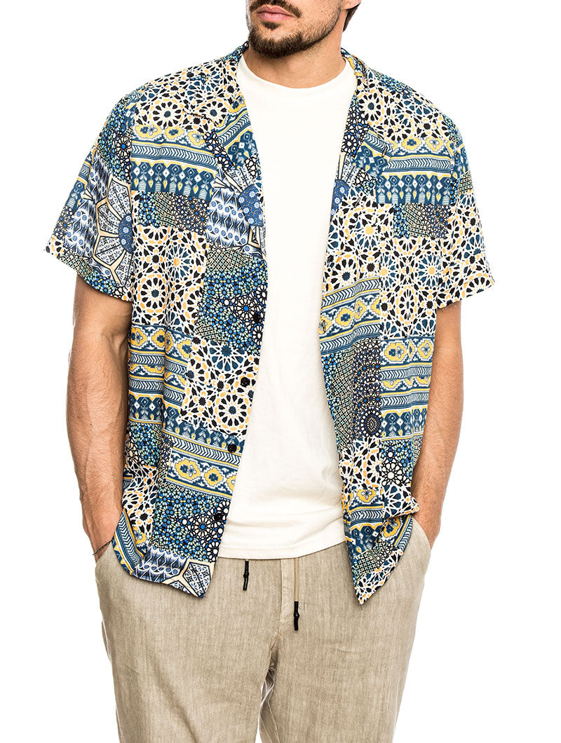 MAUI COTTON SHIRT PRINTED BLOCKS