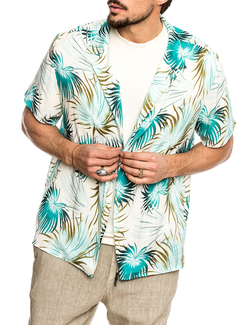 MAUI COTTON SHIRT IN GOLD PRINTS