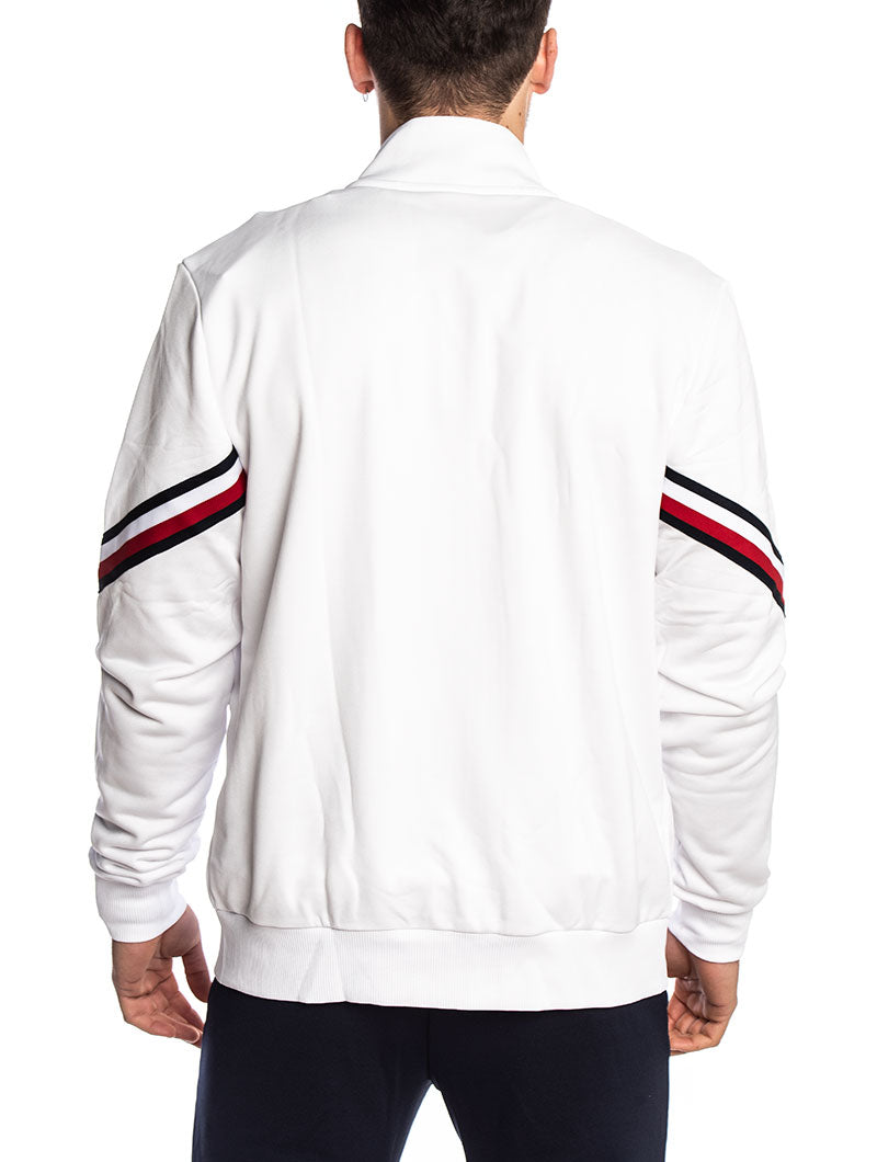 TOMMY SPORT TRACK JACKET GLOBAL STRIPE 128 IN PVH WHITE