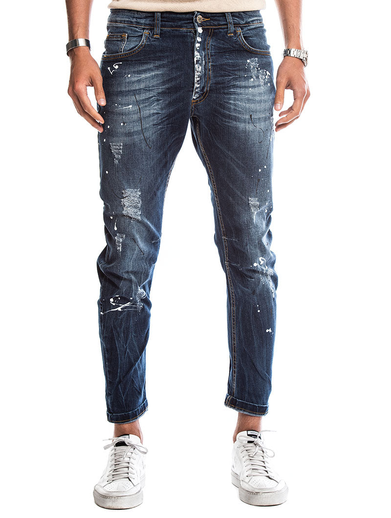 pick up fashionable style hot sale online DAVIS DISTRESSED JEANS IN BLUE