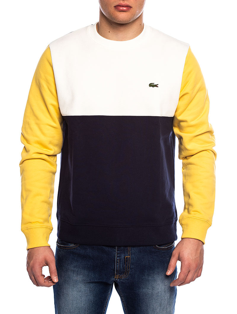 LACOSTE SWEATSHIRT IN WHITE AND BLUE