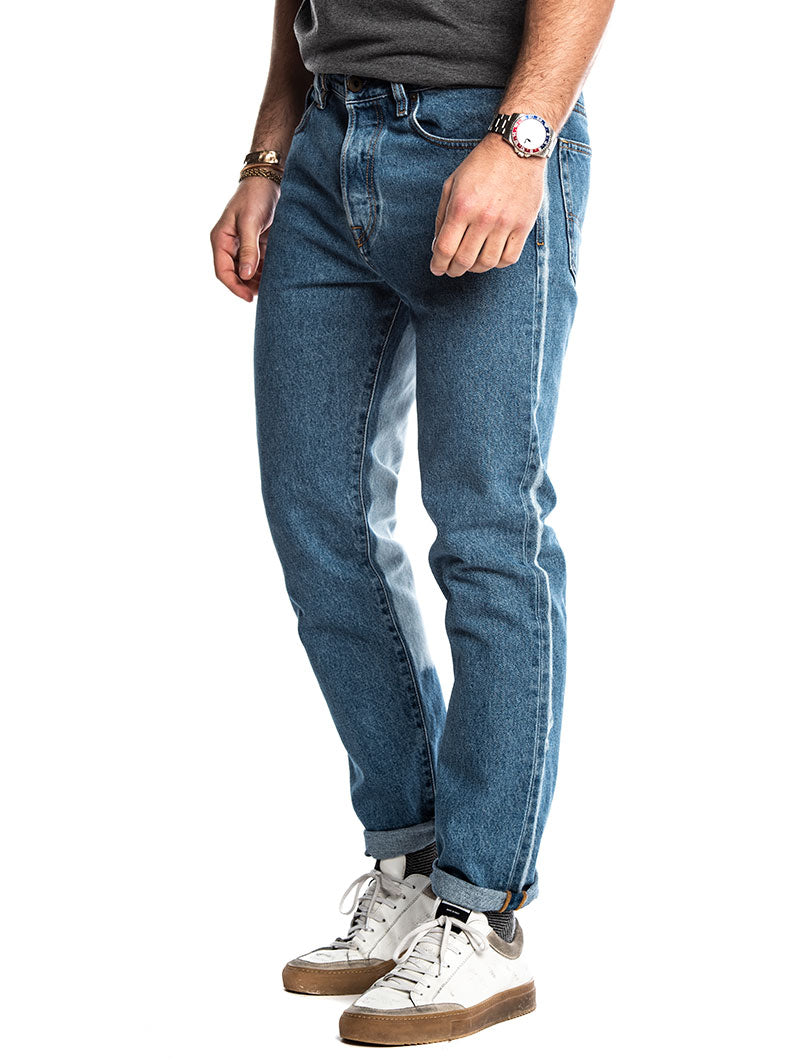 MHARKY L.32 SLIM JEANS IN BLUE DENIM