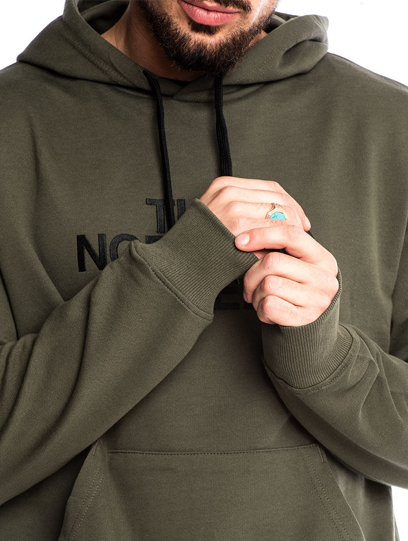 LIGHT DREW PEAK PULLOVER HOODIE IN ARMY GREEN