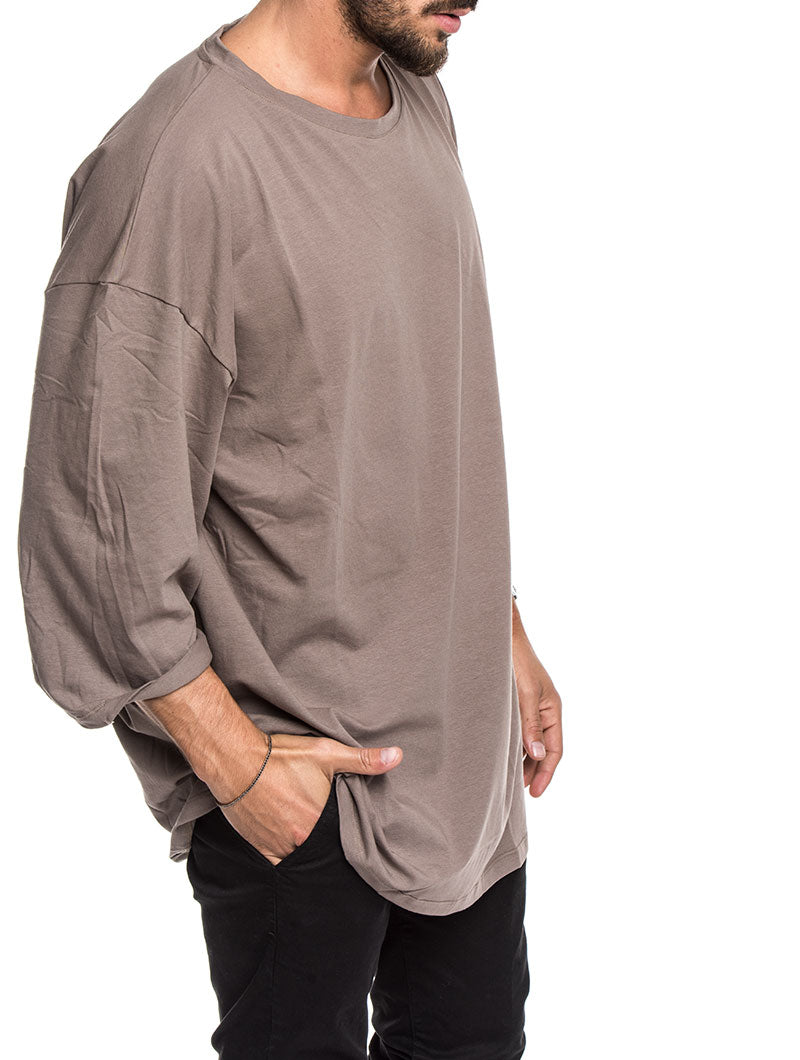 MEN'S CLOTHING | BOSTON OVER T-SHIRT IN MUD | RELAXED FIT | NOHOW