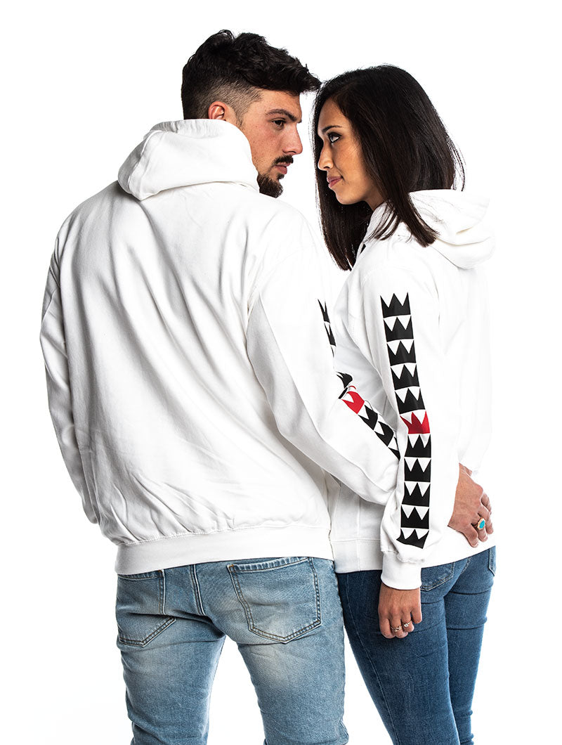 KING AND QUEEN SIDE SWEATSHIRTS IN WHITE