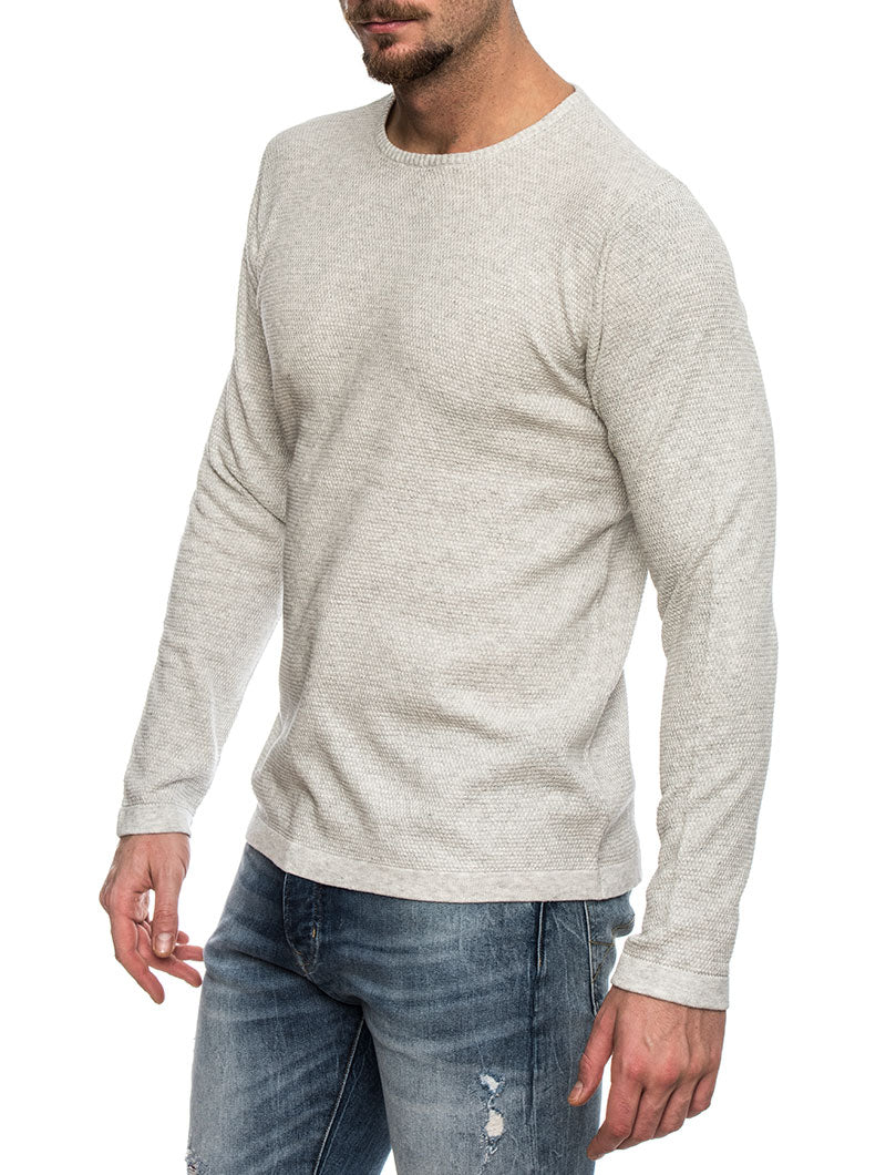 KNIT STRUCTURE IN LIGHT GREY