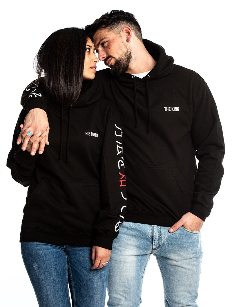 KING AND QUEEN SWEATSHIRTS IN BLACK