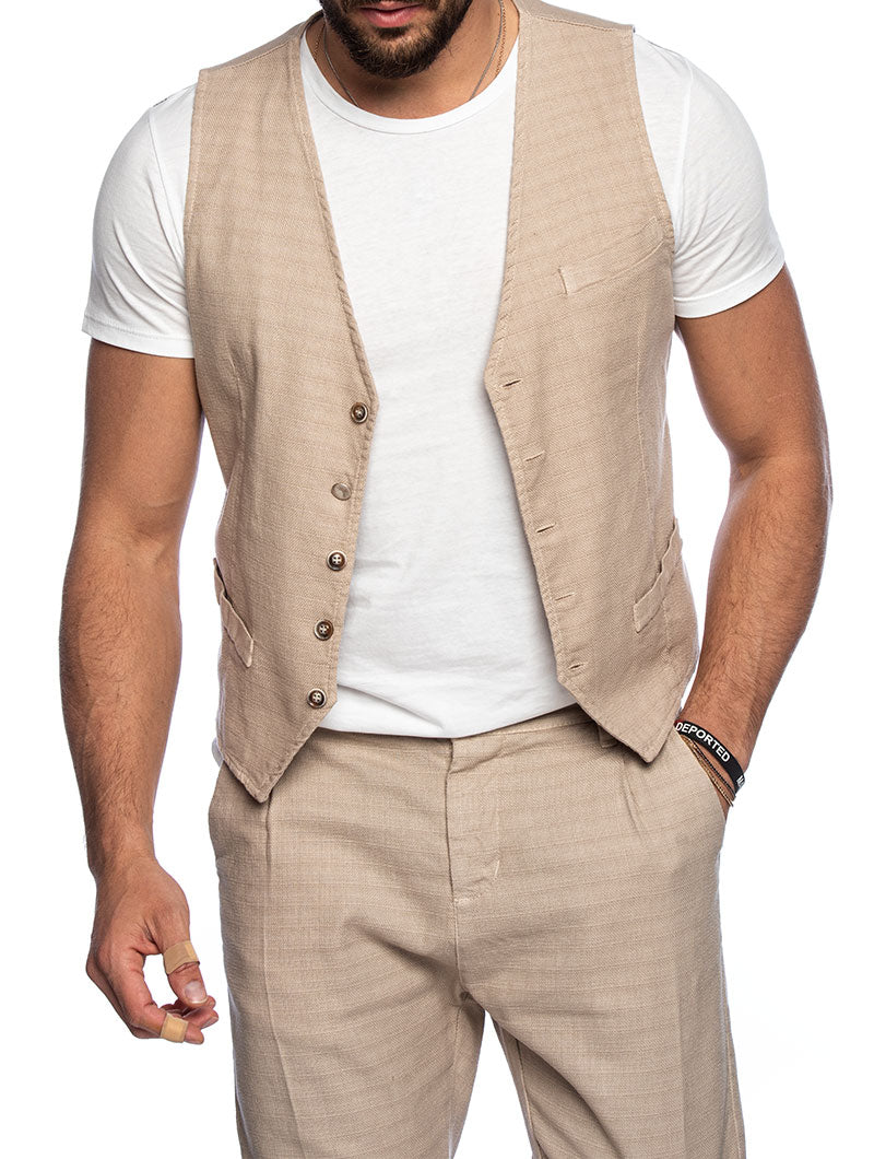 FRANK VESTS IN BEIGE