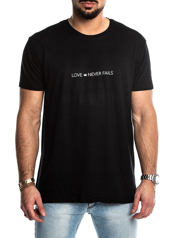 b0b07bce LOVE NEVER FAILS T-SHIRT IN BLACK