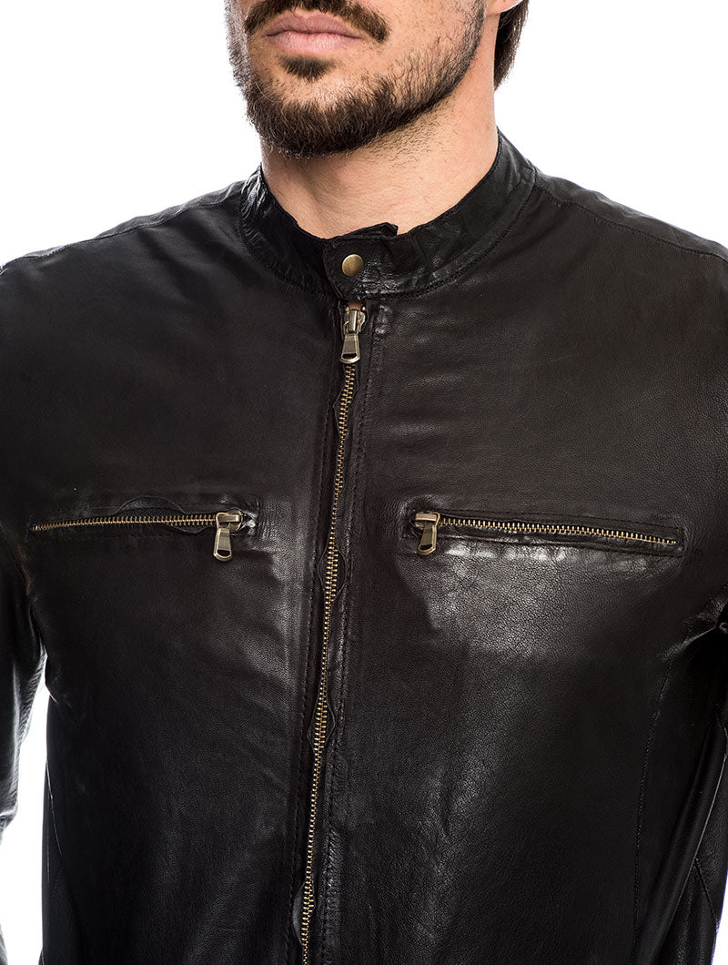 GOLD WING JACKET IN BLACK
