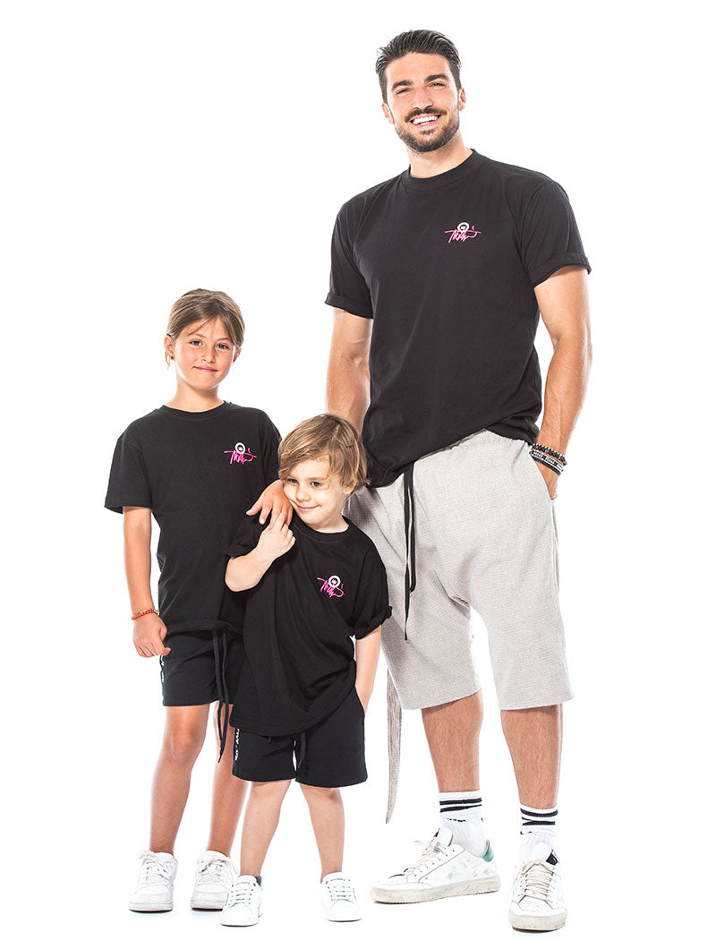 KID'S FLUO TAG NHW T-SHIRT IN BLACK