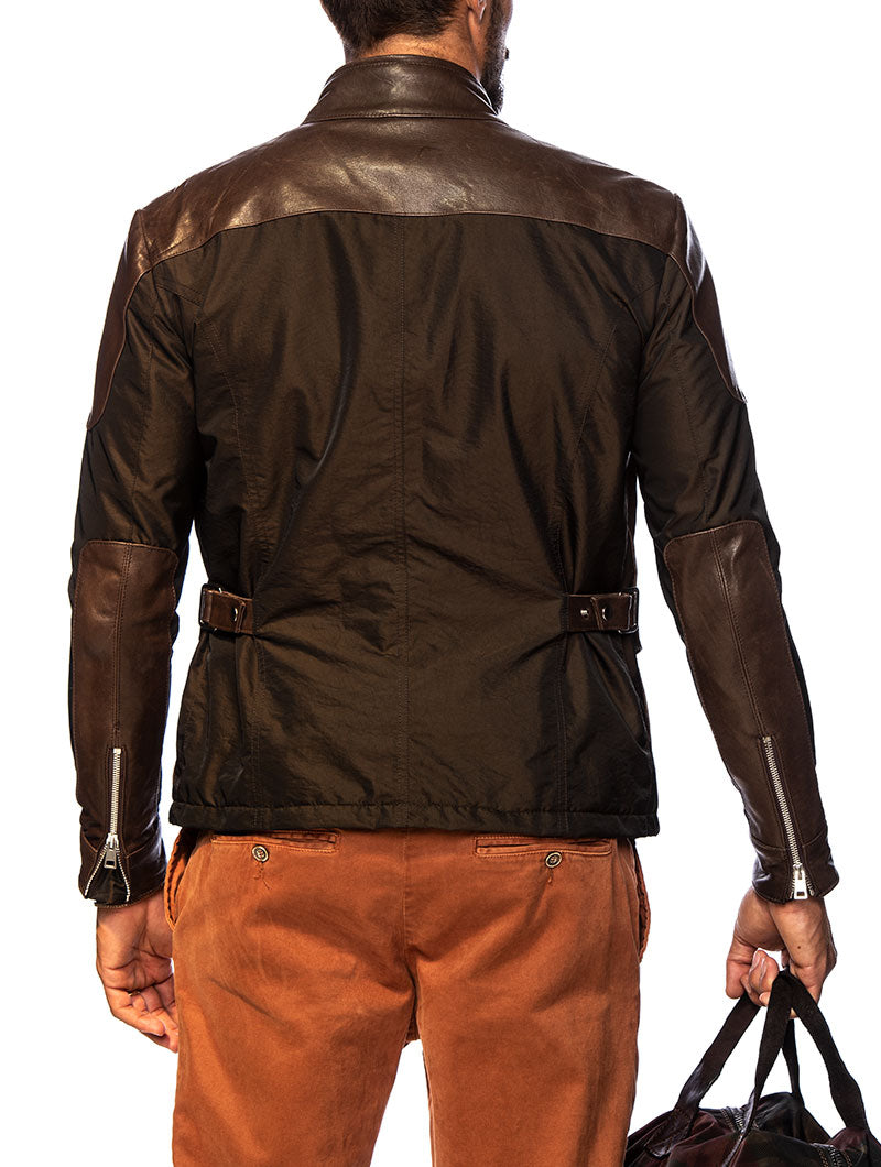 HARRISON LEATHER JACKET IN BROWN