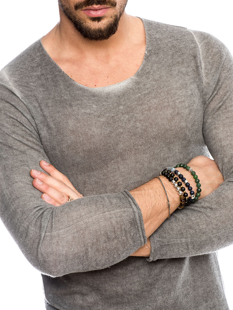 GILAN CASHMERE SWEATER IN ANTHRACITE