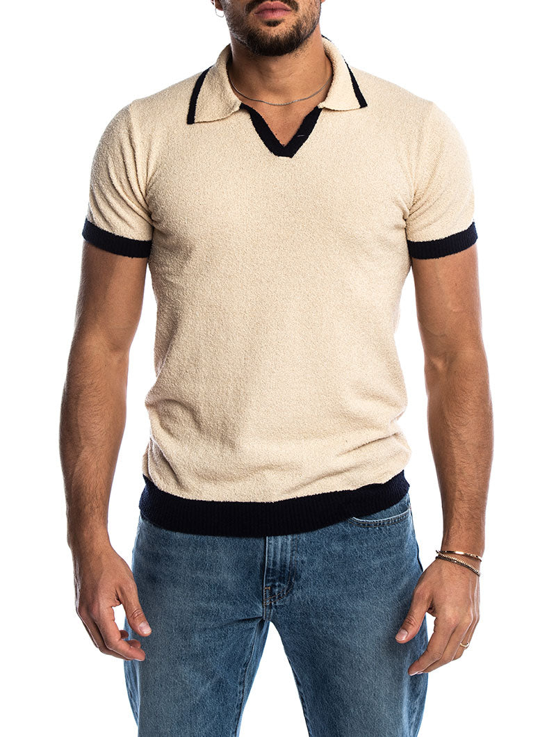 SKILAR POLO SHIRT IN BEIGE