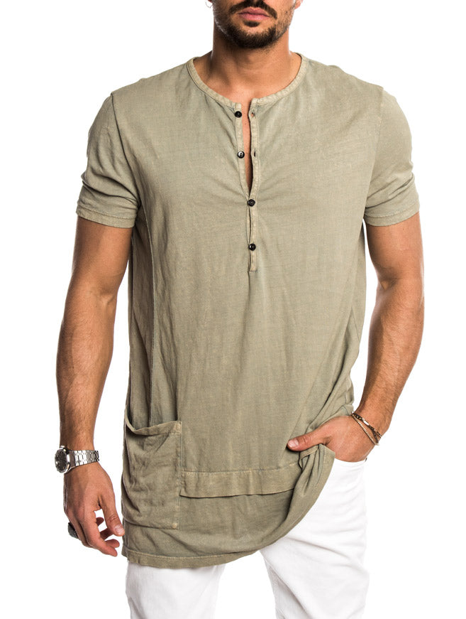ANDY OVERSIZED T-SHIRT IN LIGHT GREEN