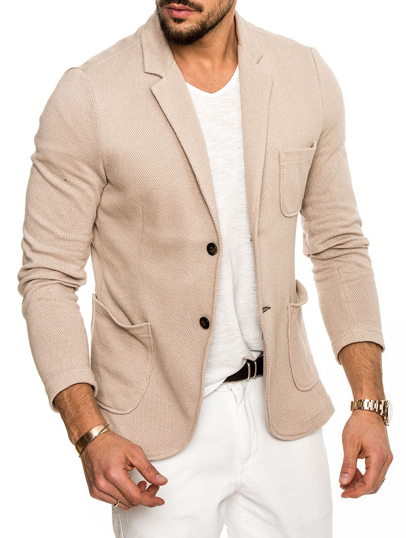 KARNAK COTTON BLAZER IN BEIGE