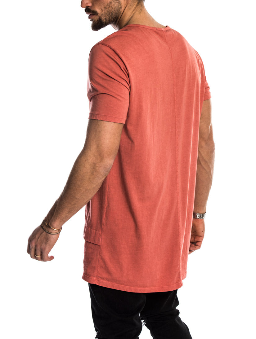 ANDY OVERSIZED T-SHIRT IN CORAL