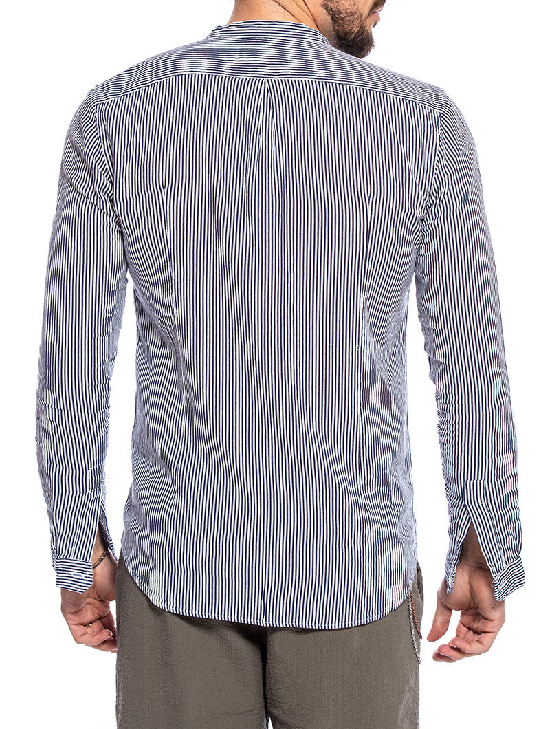 PERRY CASUAL SHIRT IN BLUE AND WHITE