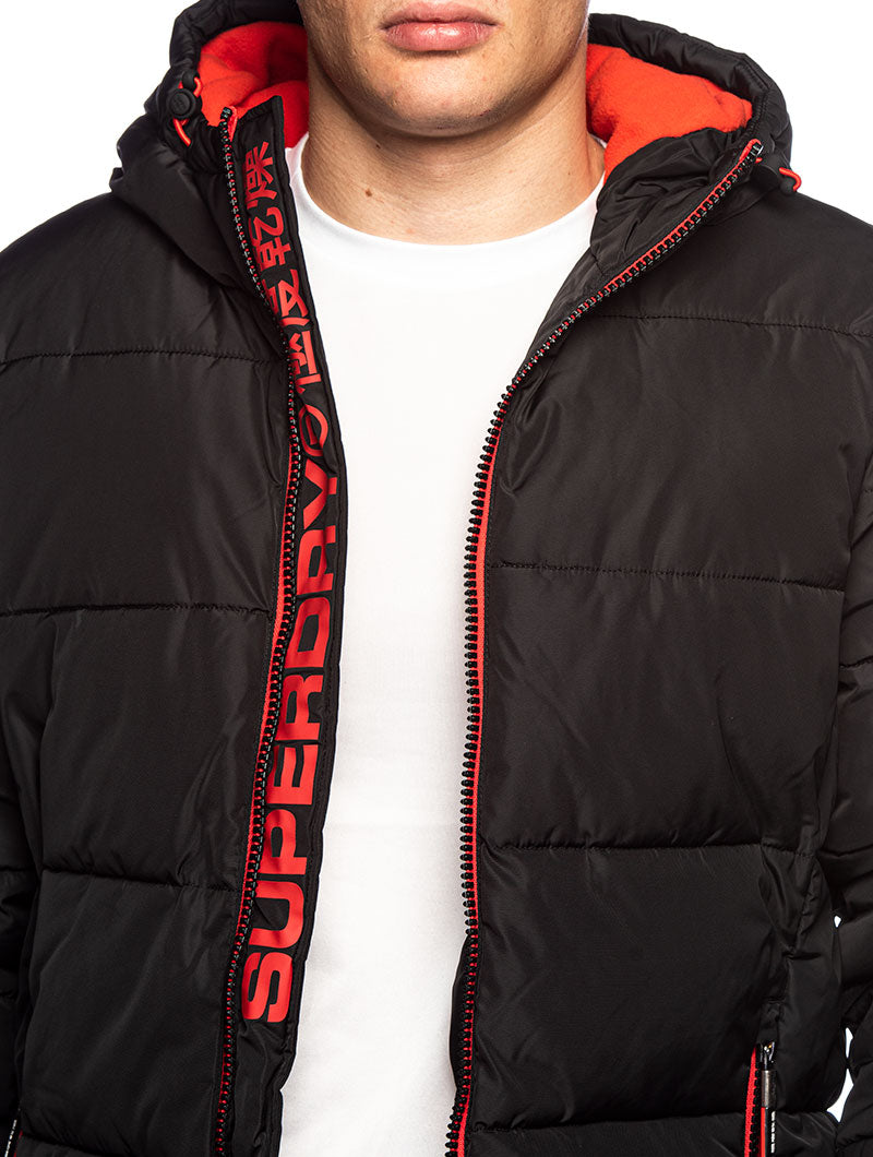 SPORT PUFFER BOMBER IN BLACK – Nohow Style