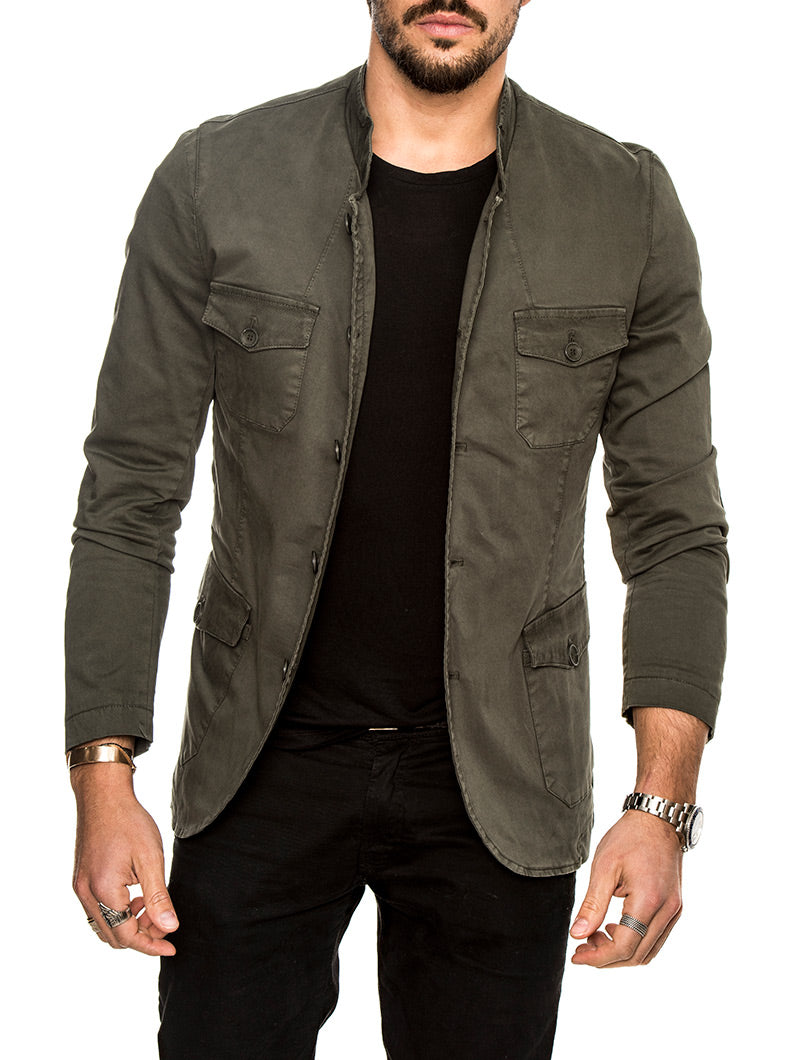 BOWERY JACKET IN OLIVE GREEN