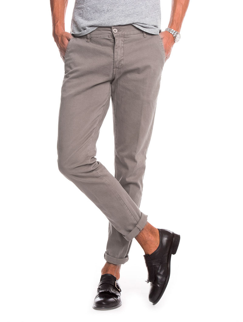 BEIGE BASIC CASUAL PANTS