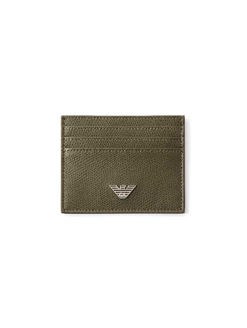 MAN LEATHER CARD HOLDER IN MILITARY